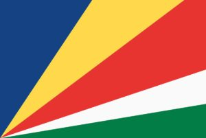 Die Flagge der Republik Seychellen