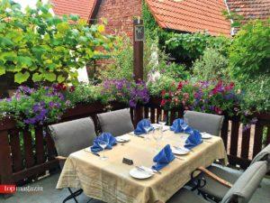 Die Terrasse vom Gasthaus zur Krone