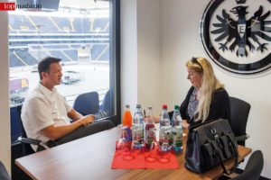 Fredi Bobic im Interview mit Top Magazin-Redakeurin Barbara Altherr