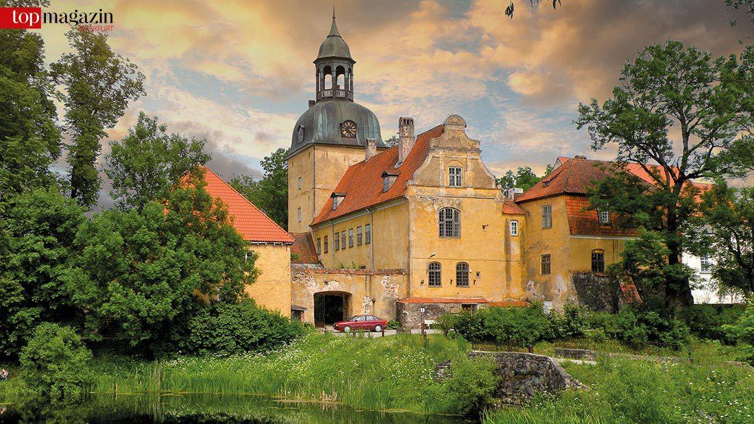 Das Schloss von Groß Roop (Lielstraupe Pils), der Familiensitz der Von Rosens in Straupe