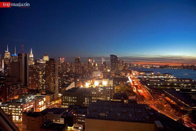Der Blick aus dem 'Skyscraper' über den Süden von Manhattan