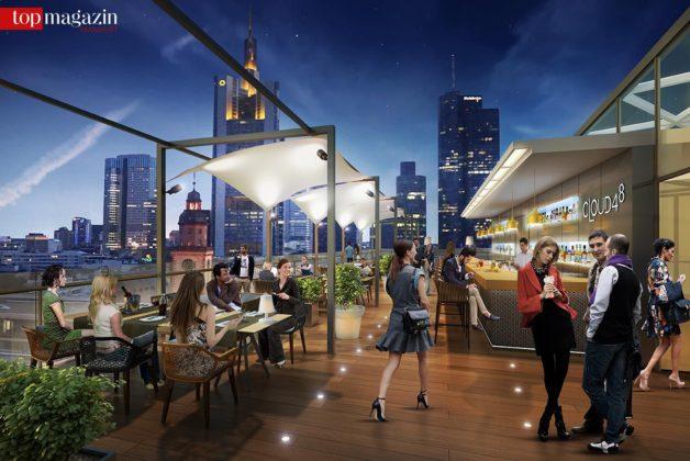 Für den 7. Stock ist eine Dachterrasse mit Bar vorgesehen.