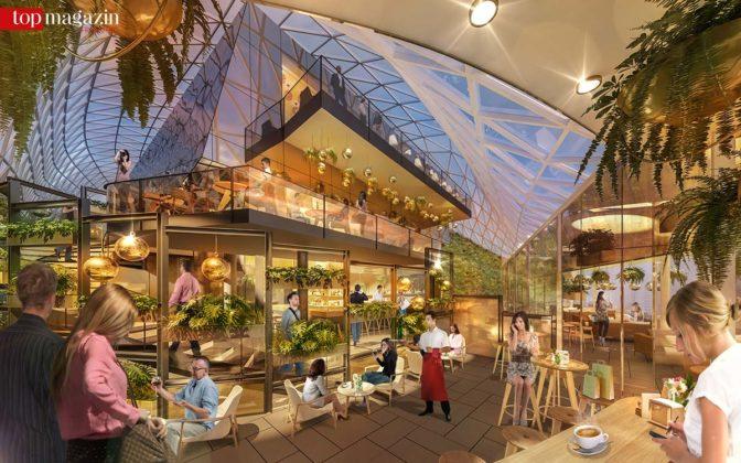 Im Inneren soll mit Urban-Gardening-Einflüssen ein besonderes Ambiente für die Besucher entstehen.