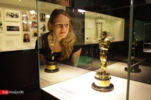 Ein echter, im Jahre 1962 an Maximilian Schell verliehener Oscar, wird für die Besucher zu bewundern sein. (Foto Sophie Schüler)