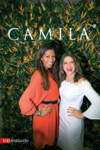 Petra Cruz mit Designerin und Geschäftsfrau Camila alias Alba Luz Diaz