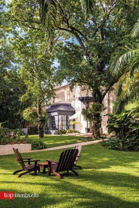 Tropischer Garten im Boutique-Hotel Casa Colonial