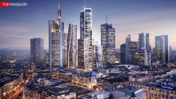Bis 2021 sollen die vier Hochhäuser stehen.