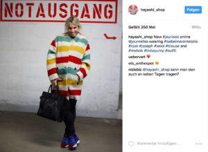 Die Frankfurter Boutique-Besitzerin Kerstin Görling ist als @hayashi_shop auf Instagram.