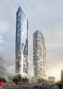 Ein Blick in die Zukunft - so werden die Türme an der Großen Gallusstraße aussehen