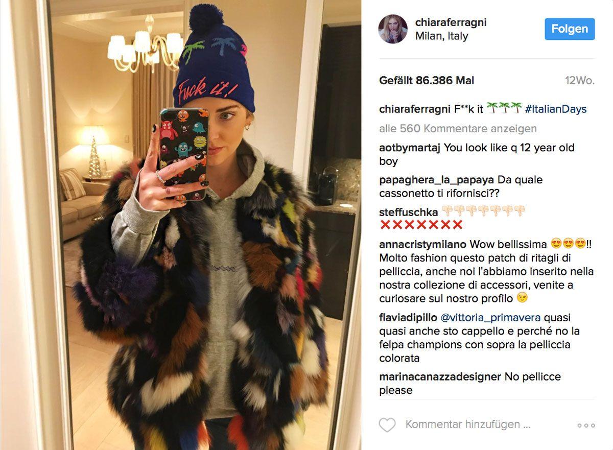 Modebloggerin und It-Girl Chiarra Ferragni alias @chiaraferragni