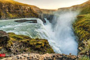 Der Gullfoss-Wasserfall in Island