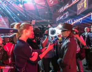 Kult-Rocker Udo Lindenberg war begehrter Interview-Gast.