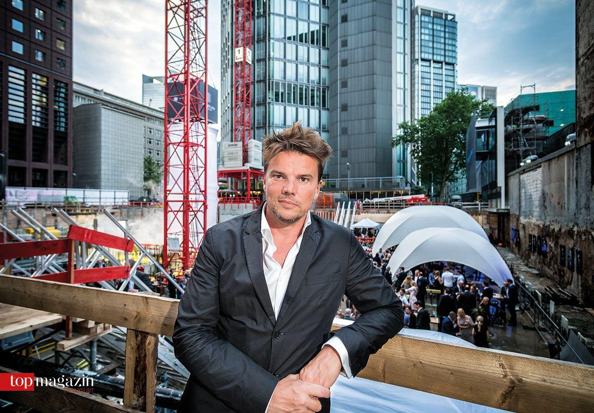 Architekt Bjarke Ingels bei der Grundsteinlegung des Omniturm