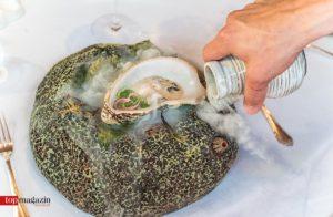 Austern an Gurken-Sake