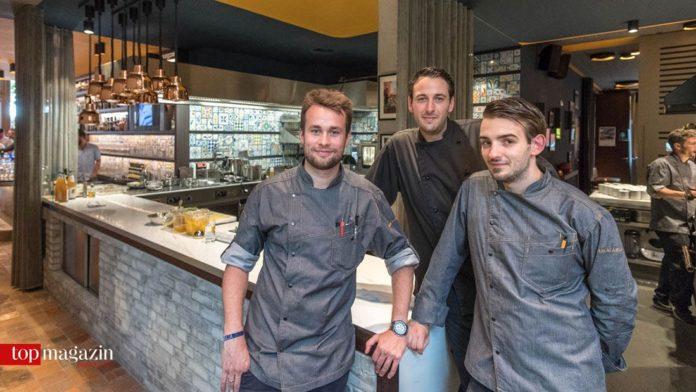 Küchenchef Christoph Kubenz, Markus Sonnenberg und Tomas Schön