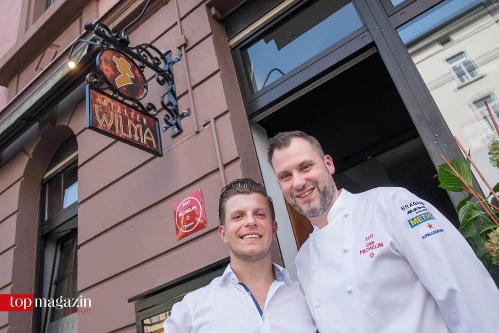 Geschäftsführer Tobias Bessling mit Küchenchef Michael Riemenschneider