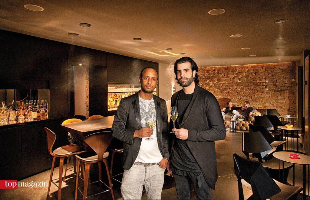 The Parlour-Inhaber Yared Hagos mit Innenarchitekt Douman Pour