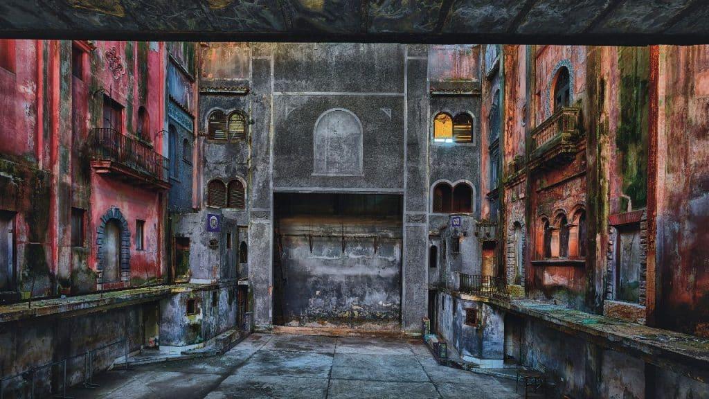 """""""Etwas düster wirkt dieser Bau, das Teatro Verdun. Früher war es ein Kino, heute probt hier eine experimentelle Tanztruppe"""""""