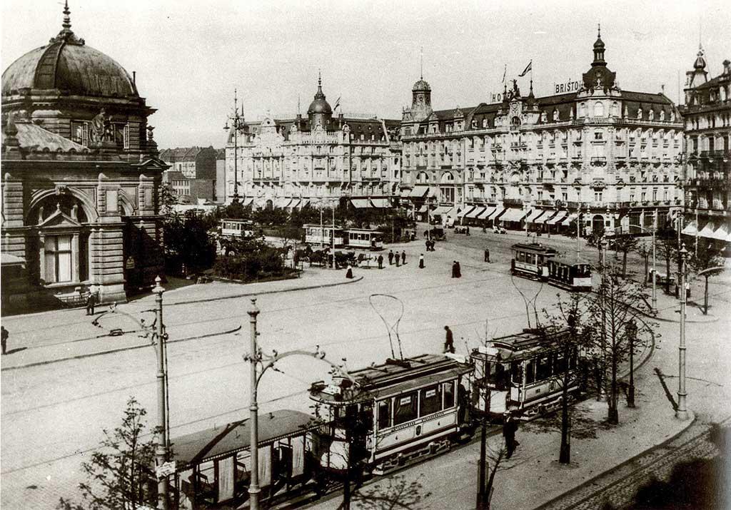Der damalige 'Centralbahnhof Frankfurt' im Jahre 1903