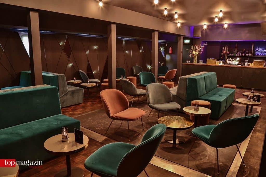 Die Lounge im Obergeschoss