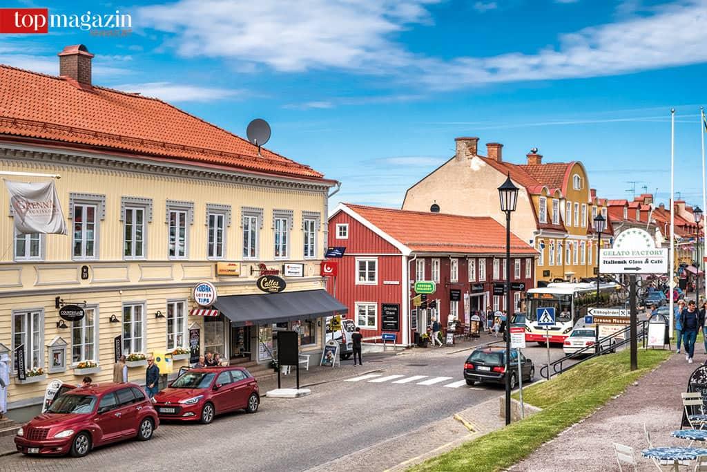 Die 'Zuckerstadt' Gränna ist berühmt für ihre rot-weiß gekringelten Pfefferminzstangen.