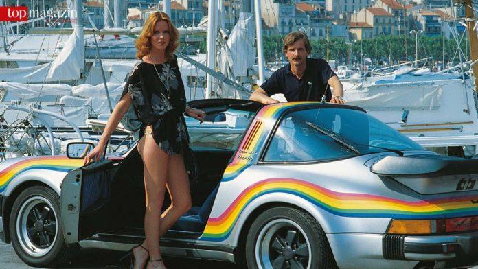 Kathrin Buchmann und Bernd Stephan vor dem legendären bb 911 Turbo Targa Rainbow