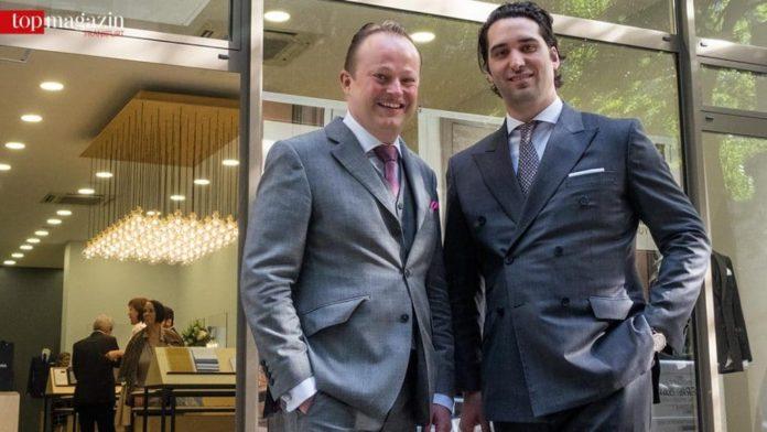 Store-Leiter Holger Gustav Meyer mit Atelier NA Gründer Francois Chambaud