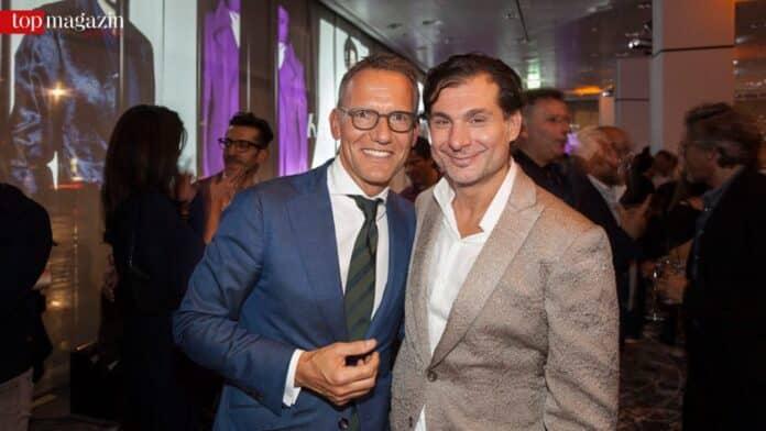 Vermieter Ulrich Höller mit Mieter und Designer Cem Mustafa Abaci