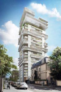 Viel Glas, Balkone und Loggien bekommt der 95 Meter hohe Riverpark Tower.