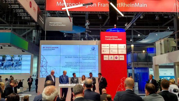 Frankfurt auf der Expo Real 2017 - Panel zum Brexit mit Thomas Schäfer, Markus Frank, Elvin Durakovic, Kerstin Hennig, Eric Menges und Oliver Schwebel