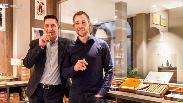 Cigar Lounge-Inhaber Andreas Gutfreund und Shop-Leiter Selman Evren