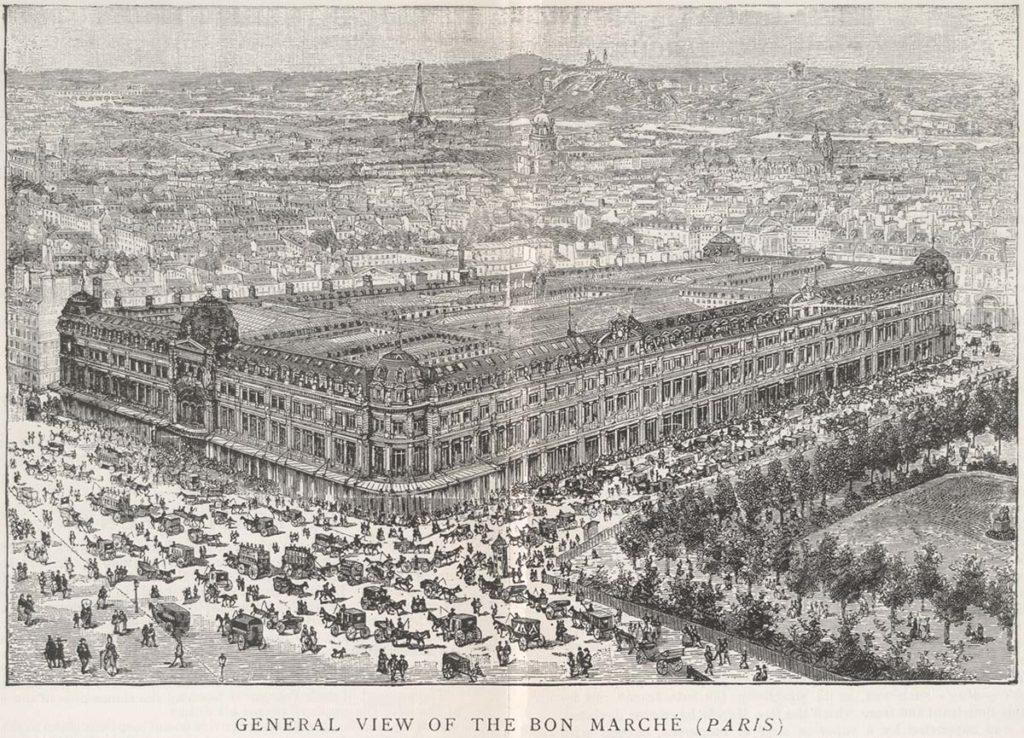 Das Kaufhaus 'Le Bon Marché' im Jahre 1892