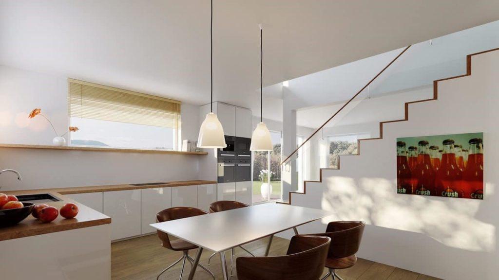 """Die """"Haus-in-Haus""""-Wohnungen überzeugen mit großem Garten und zwei Etagen."""