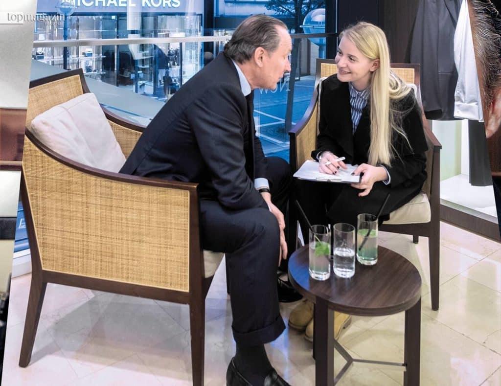 Gildo Zegna im Interview mit Top Magazin-Redakteurin Annika John