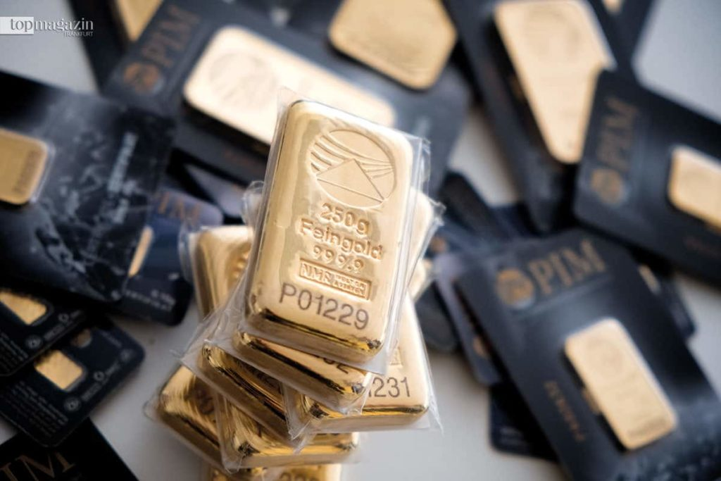 Goldbarren im 'Hessisch' Fort Knox'