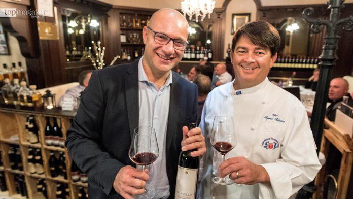 Alte Kanzlei-Chefkoch Agazio Riitano mit Raffaele Librandi vom gleichnamigen kalabrischen Weingut