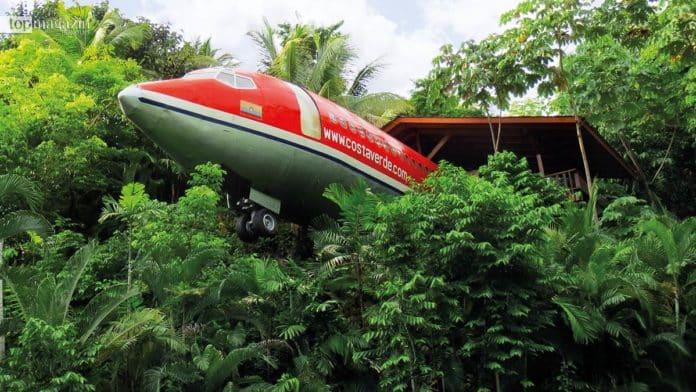 Keine gewöhnliche Schlafstätte, sondern eine umgebaute Boeing 727