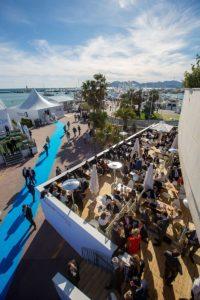 Der Gemeinschaftsstand FrankfurtRheinMain auf der Immobilienmesse MIPIM 2018 in Cannes (Foto Rui Camilo)