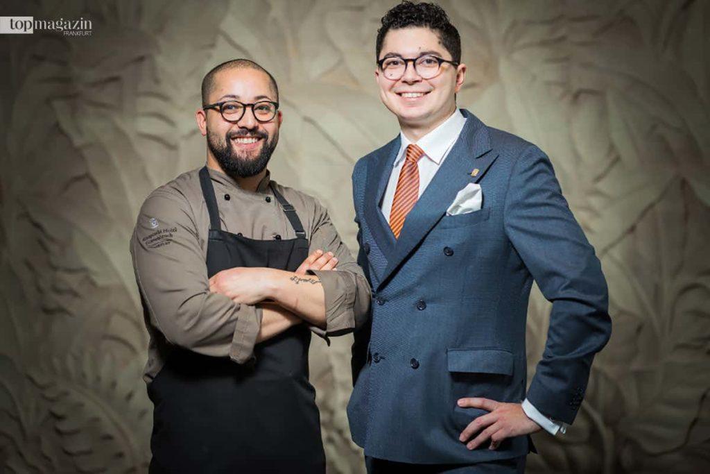 Koch Mohamed Agouni und-Restaurantleiter Gabriel Apitzsch
