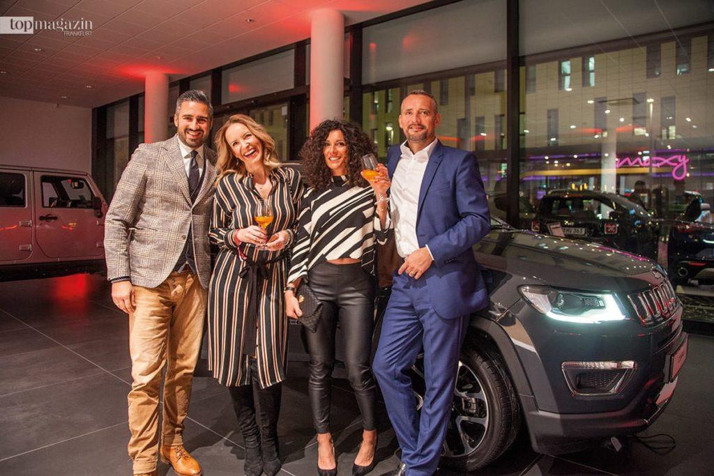 Michelin-CEO Anish K. Taneja mit Gattin Denise, FFH-Moderatorin Evren Gezer und Armin Kuster