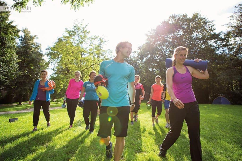 Das Training im Freien erfreut sich immer größerer Beliebtheit.