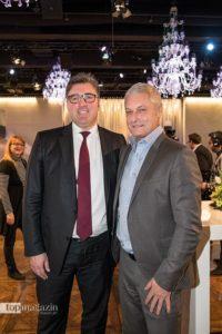Eintracht-Finanzvorstand Axel Hellmann und Ex-Eintracht-Trainer Armin Veh