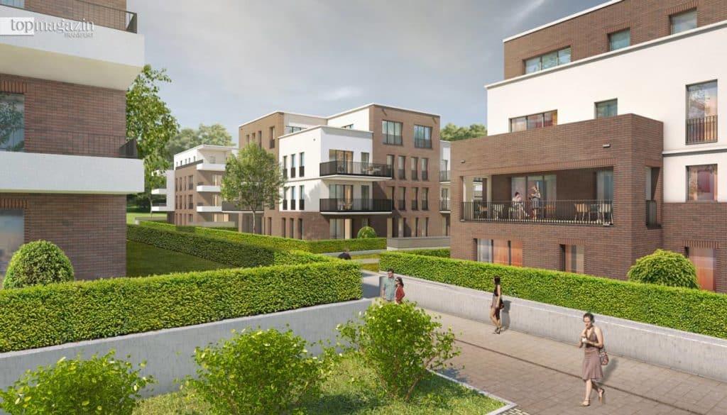 Auf dem Areal des ehemaligen Taunusbrunnen-Quartiers sollen insgesamt 119 Wohnungen entstehen.