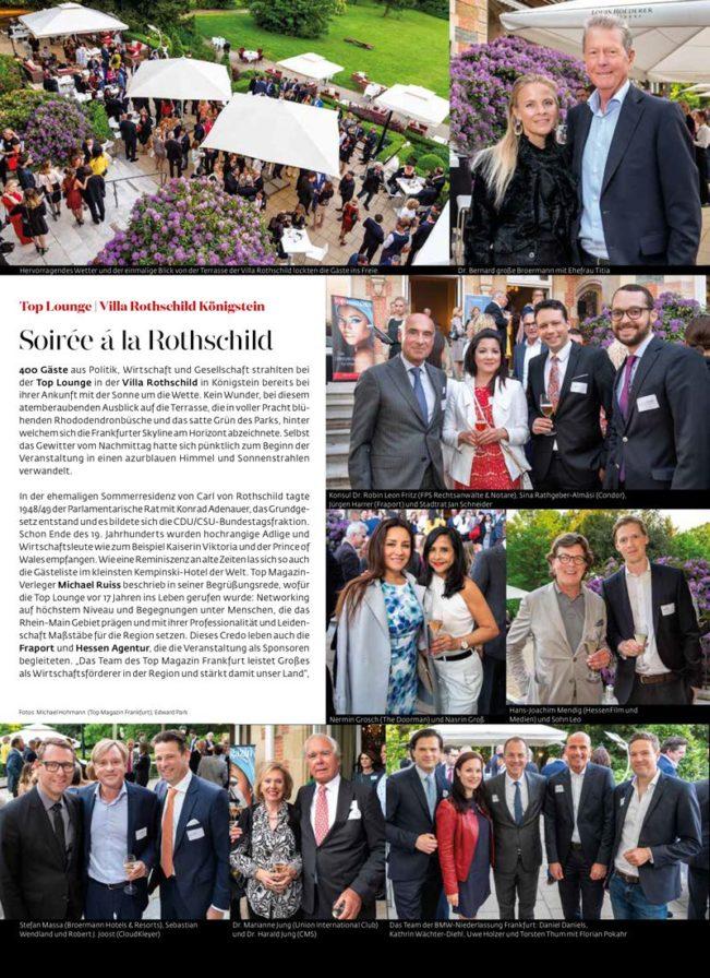 Top Lounge – Top Magazin Frankfurt, Ausgabe Sommer 2018
