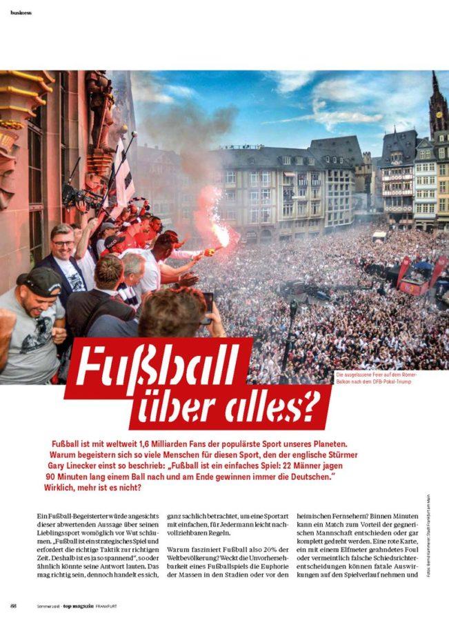 Fußball über alles – Top Magazin Frankfurt, Ausgabe Sommer 2018
