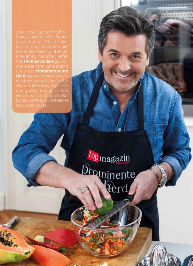 Thomas Anders am Herd – Top Magazin Frankfurt, Ausgabe Sommer 2018