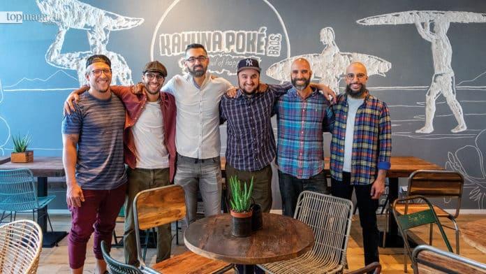 Die Poke Bros - Alexander Kirschniok, Oualid Chahboune, Wlassios und Pablo Kordonias, Jalalle und Ilias Chahboune