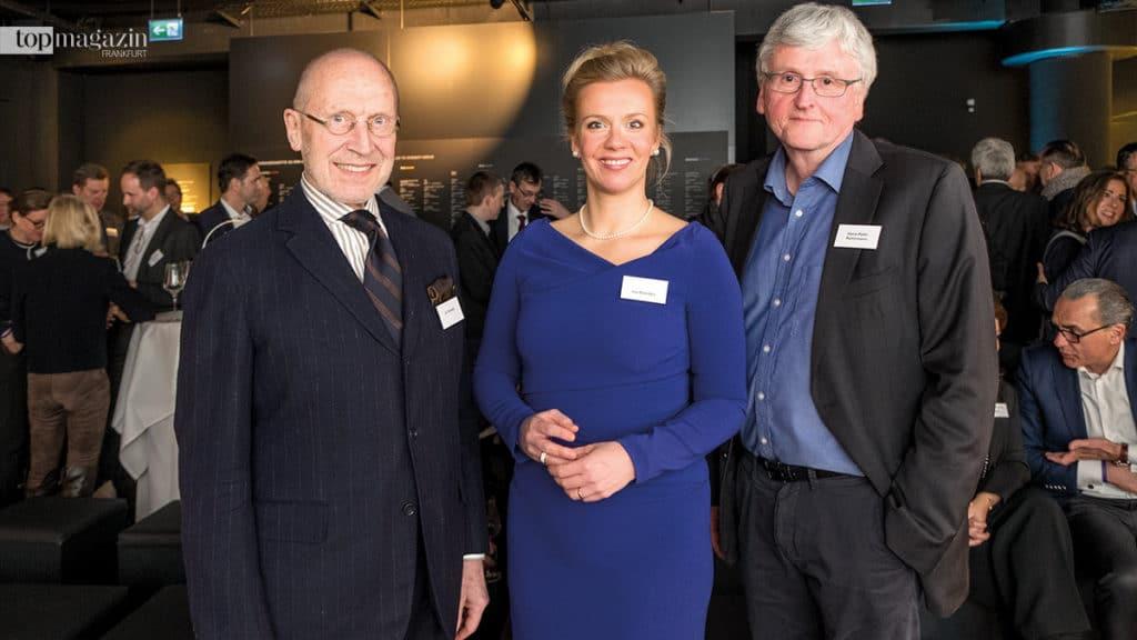 Architekt Jo. Franzke, Sweco-Geschäftsführerin Ina Brandes und Ausstellungs-Kurator Hans-Peter Reichmann