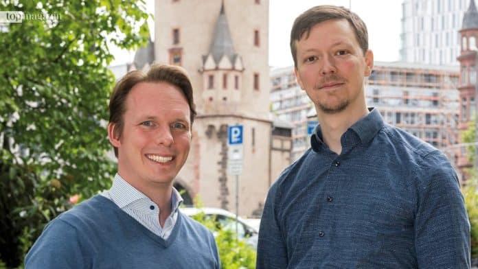 Glückliche Sieger - Lukas Naab und Matthias Bay von Minds-Medical