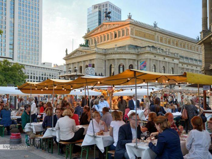 Weinfest Freßgass Frankfurt am Opernplatz